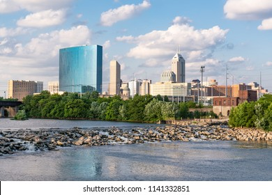 Indianapolis City Skyline along the White River