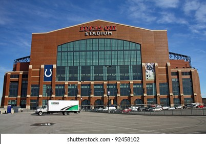 INDIANAPOLIS - DEC 1: Lucas Oil Stadium home of the Indianapolis Colts will be host stadium for Super Bowl XLVI December 1, 2011 in Indianapolis, IN