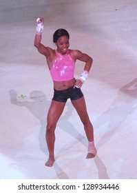 INDIANAPOLIS, IND. - NOVEMBER 2 : Gold medal gymnast Gabby Douglas performed in Indianapolis, Indiana on November 2, 2012.