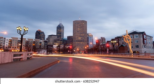 Indianapolis Indiana Capital City Marion County Downtown Skyline