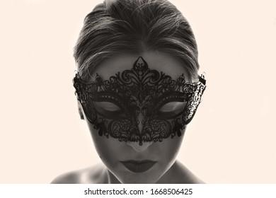 Indianapolis, Indiana / United States - 1 January 2016 : Woman Wearing Mask