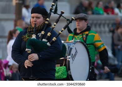Indianapolis, Indiana, USA - March 17, 2016, The St. Patrickâ??s Day Parade is a cultural and religious celebration from Ireland in honor of  Saint Patrick.