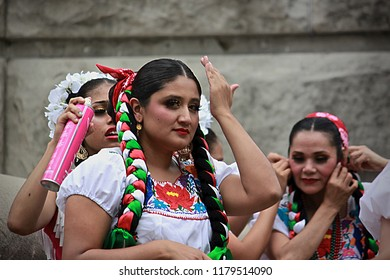 INDIANAPOLIS, IN/USA – MAY 2, 2018: Baile folklórico is a collective term for traditional Mexican dances that emphasize local folk culture with ballet characteristics