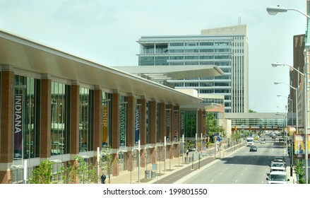 INDIANAPOLIS - JUNE 17: The Indiana Convention Center, shown June 17, 2014, hosts the annual Pokemon Trading Card Game US National Championships.