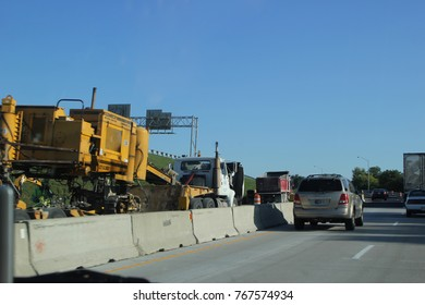 INDIANAPOLIS, IN - OCTOBER 10: Highway Construction on Route 70 East in Indianapolis, Indiana 2013