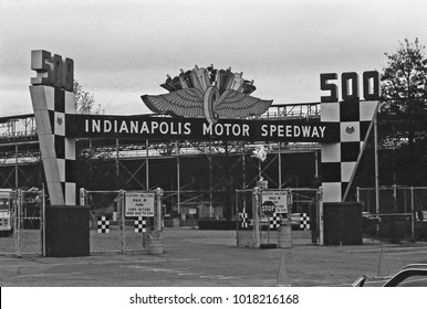INDIANAPOLIS – SEPTEMBER 14, 1979: Indianapolis motor speedway entry. Vintage picture taken in 1979.