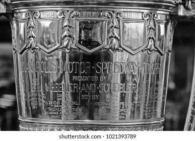 INDIANAPOLIS – SEPTEMBER 14, 1979: Indianapolis motor speedway trophy. Vintage picture taken in 1979.