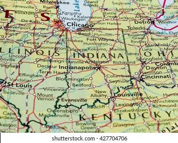 Indianapolis Usa Circa May 2016 Map Stock Photo Edit Now 423323866