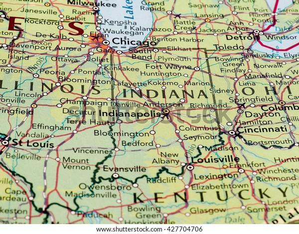 Indianapolis Usa Circa May 2016 Map Stock Photo (Edit Now ...