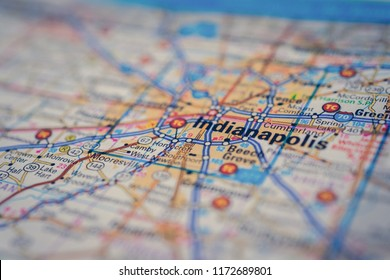 Indianapolis USA on the map