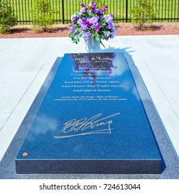 Indianola, MS - Sept. 22, 2017: B.B. King's Gravesite. B.B. King was an American blues singer, electric guitarist, songwriter, and record producer.
