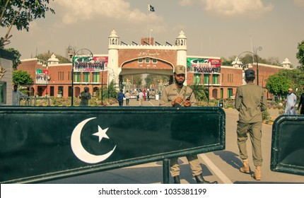 The Indian-Pakistani border. Pakistani Rangers. Wagah Border Pakistan, Wagah 04.23.2013