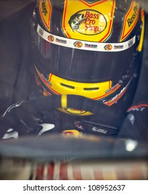 INDIANPOLIS, IN - JUL 28, 2012:  Jamie McMurray (1) and crew prepare their car for a practice session for the Curtiss Shaver 400 at the Indianapolis Motor Speedway in Indianapolis, IN on Jul 28, 2012.