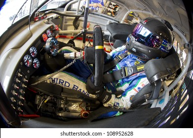 INDIANPOLIS, IN - JUL 28, 2012:  Matt Kenseth (17) and crew prepare their car for a practice session for the Curtiss Shaver 400 at the Indianapolis Motor Speedway in Indianapolis, IN on Jul 28, 2012.