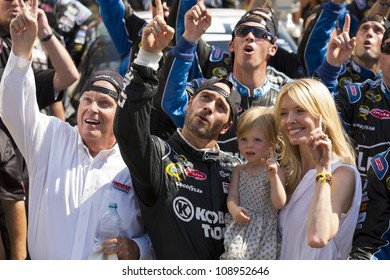INDIANPOLIS, IN - JUL 29, 2012:  For the fourth time in his career, Jimmie Johnson (48) wins tthe Curtiss Shaver 400 at the Indianapolis Motor Speedway in Indianapolis, IN on 29 Jul, 2012.