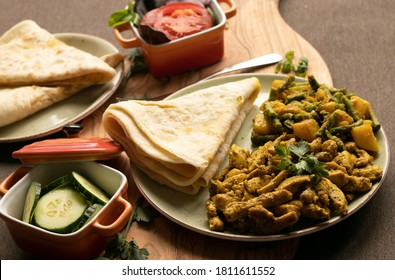 Indian-surinamese spicy food lunch and dinner