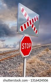 indicative sign near a railway