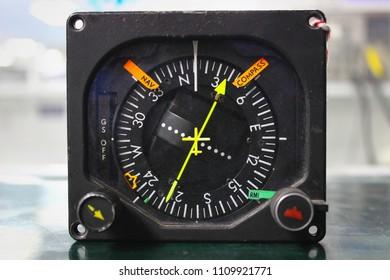 Indicator ,Avionics equipment in aircraft with maintenance.