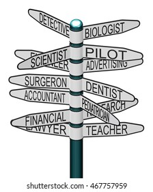 Indicator with Best Career profession - 3D rendering