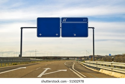 indicators on a highway