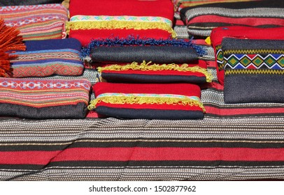Indigenous colorful texiles and fabrics in Taiwan