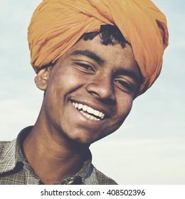 Indigenous Indian Asian Boy Casual Culture Joy Concept