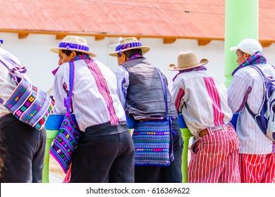 Indigenous man in Todos Santos Cuchumatan village in Guatemala
