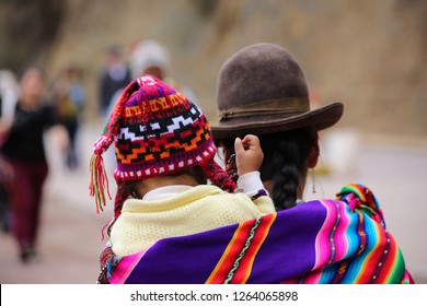 Indigenous Peruvian mother with baby