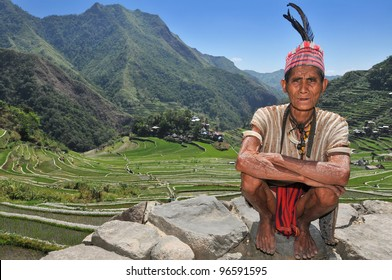 Indigenous senior citizen of the mountains in Southeast Asia.