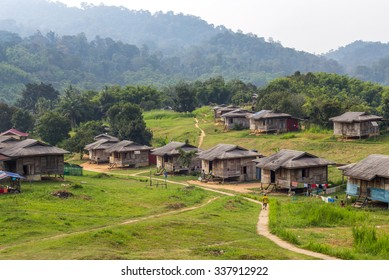 Indigenous settlement in Royal Belum, Malaysia. Royal Belum is one of the top rain forest attraction in the country.