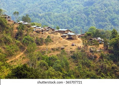 indigenous tribal culture of Akha tribe mountain village, Pongsali, Laos