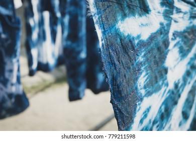 Indigo dyed cotton