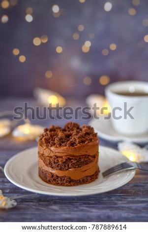 Individual Chocolate Cake Recipe On Beautiful Stock Photo Edit Now
