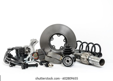 Individual spare parts, car spare parts, brake disc, oil filter, brake pads, water pump, shock absorbers