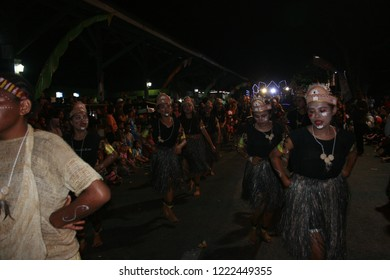 Indonesia - August 19: Parades of participants celebrate the Indonesian independence day on the streets of Blora district, Central Java on August 19, 2018 in Indonesia