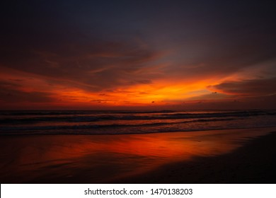Indonesia, Bali - Sunset with Ocean view. Skyscape.