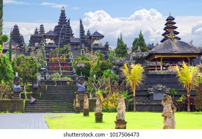 Indonesia. Bali. The Temple Of Pura Besakih. Pura Besakih located on the slope of Gunung Agung, where supposedly live friendly human spirits that were worshipped in this temple.
