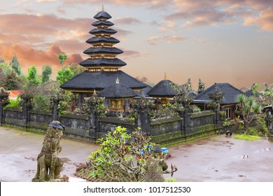 Indonesia. Bali. The Temple Of Pura Besakih. Pura Besakih located on the slope of the mountain, where supposedly live the spirits friendly to man, who prayed in this temple.