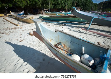 Indonesia fisherman's boat at beach