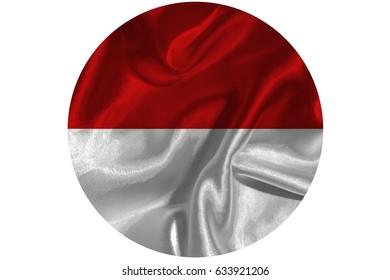 INDONESIA flag  3D illustration symbol.