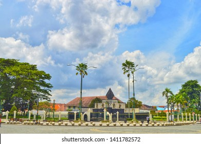 Indonesia- March 27, 2019. one of Indonesia's historic sites located in Yogyakarta, namely the monument of the March 5, 1949 attack is now a crowded tourist spot