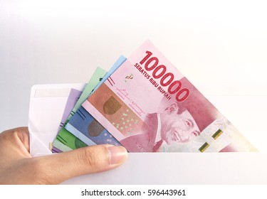 Indonesia Money Rupiah inside envelope
