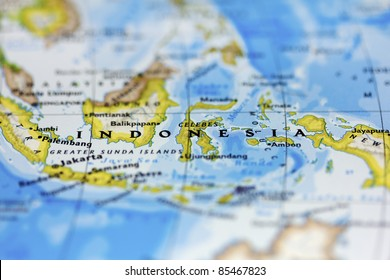Indonesia on the map.