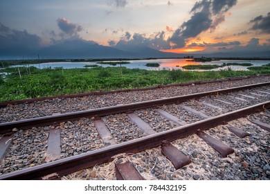 Indonesia railway in semarang