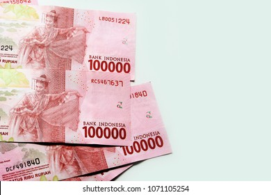 Indonesia Rupiah banknote / The rupiah  is the official currency of Indonesia. Issued and controlled by the Bank of Indonesia
