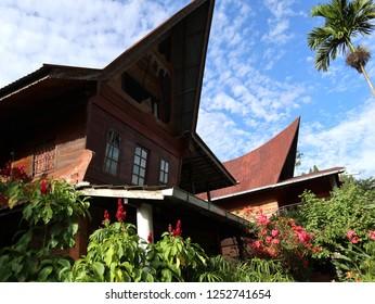 Indonesia, Sumatra island, Toba lake, Samosir island, batak house