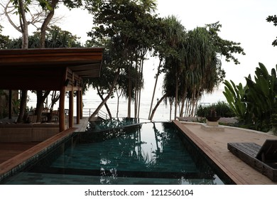 Indonesia, Sumba, - July 3, 2018, A beautiful view of Nihi Hotel, Sumba Island, Indonesia