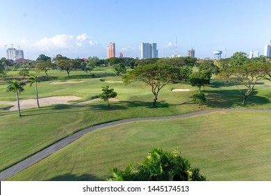 Indonesia, Surabaya - May 29 2019: Bukit Darmo Golf resident has this beautiful Golf View. Sometimes you will get a stray ball.
