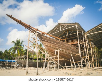 Indonesia Traditional Boat (Phinisi) workshop.