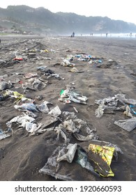 Indonesia, Yogyakarta, August 2, 2020. Plastic waste is all used or unused items whose materials are produced from non-renewable chemicals and are usually used for packaging.